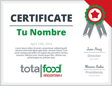 Certificado Total Food